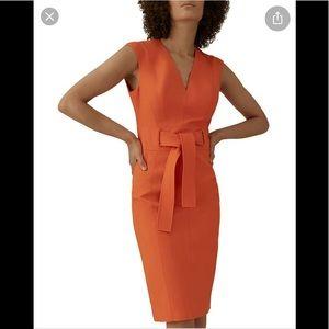 NWT,KAREN MILLEN Tie-waist Sheath dress,DF030